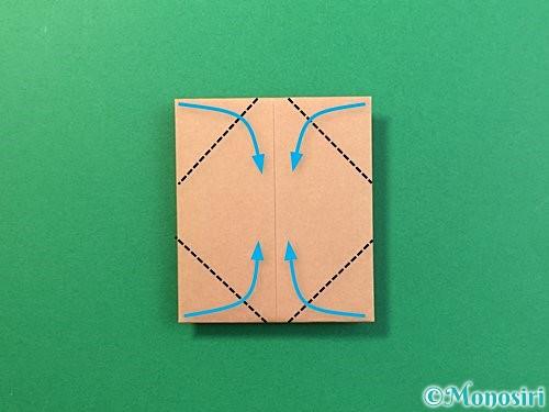 折り紙で提灯お化けの折り方手順11