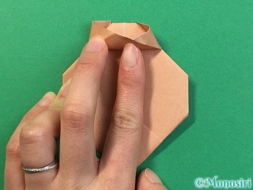 折り紙で提灯お化けの折り方手順15