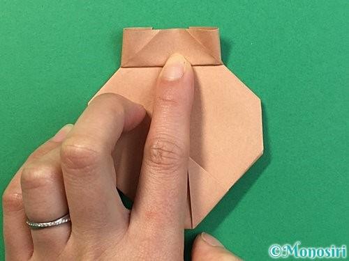 折り紙で提灯お化けの折り方手順16