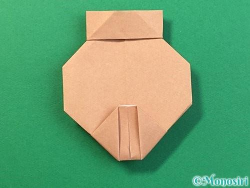 折り紙で提灯お化けの折り方手順17