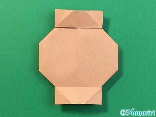 折り紙で提灯お化けの折り方手順18