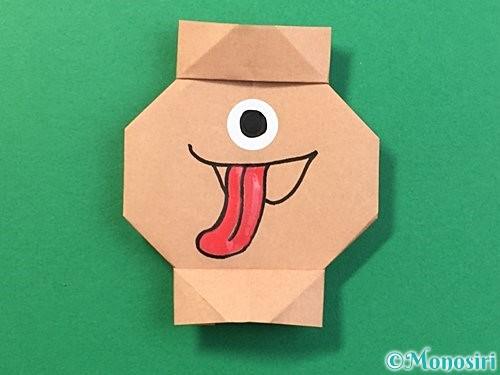 折り紙で提灯お化けの折り方手順19