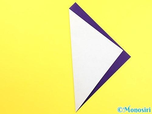 折り紙で朝顔のつぼみの折り方手順2