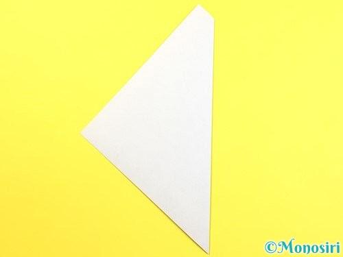 折り紙で朝顔のつぼみの折り方手順3