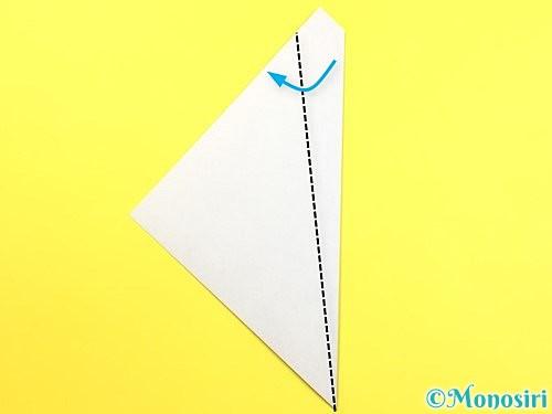 折り紙で朝顔のつぼみの折り方手順4