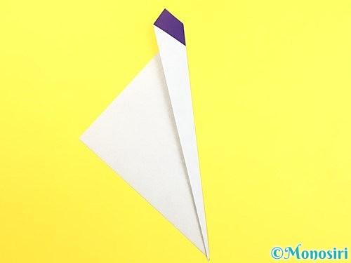 折り紙で朝顔のつぼみの折り方手順5