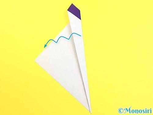 折り紙で朝顔のつぼみの折り方手順6