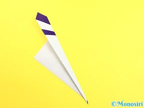折り紙で朝顔のつぼみの折り方手順7