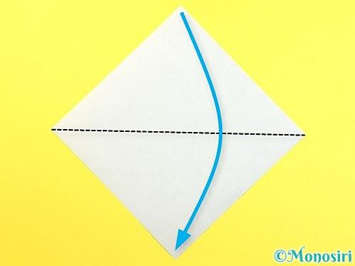 折り紙で朝顔のがくの折り方手順1
