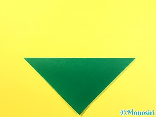 折り紙で朝顔のがくの折り方手順2