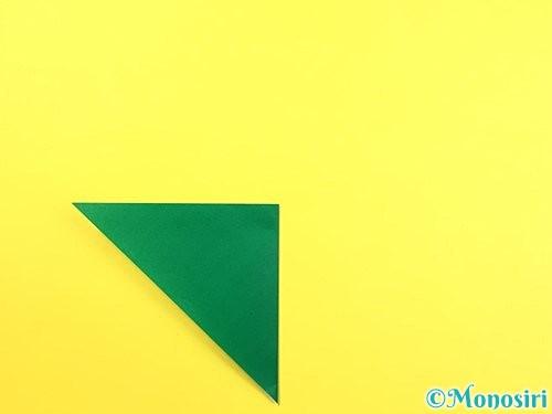 折り紙で朝顔のがくの折り方手順4