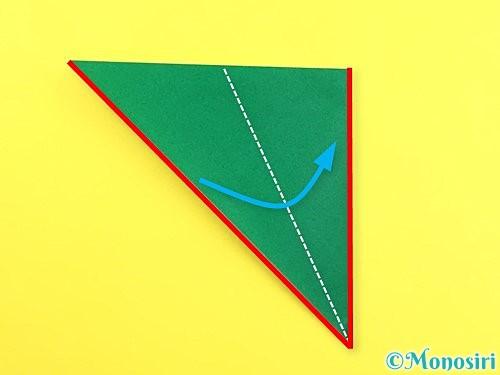 折り紙で朝顔のがくの折り方手順5