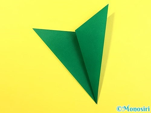 折り紙で朝顔のがくの折り方手順6