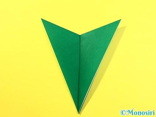 折り紙で朝顔のがくの折り方手順7