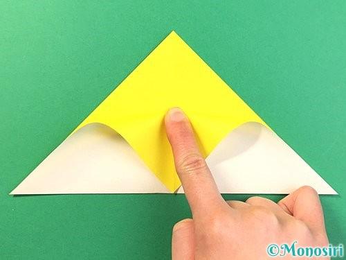 折り紙でひまわりの切り方手順6