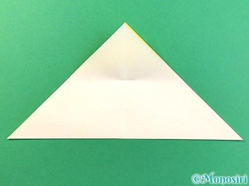 折り紙でひまわりの切り方手順7