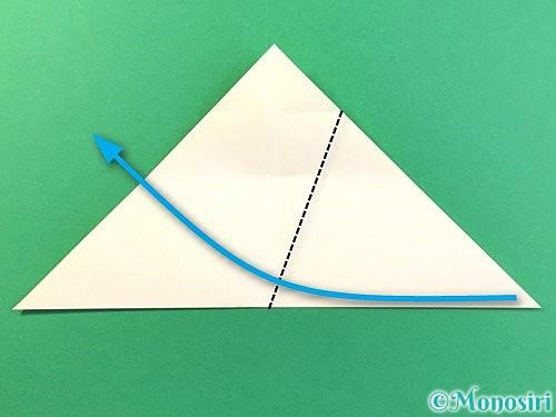 折り紙でひまわりの切り方手順10