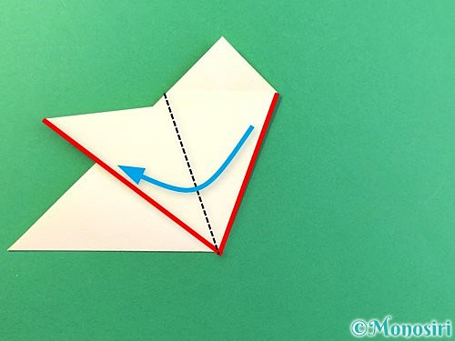 折り紙でひまわりの切り方手順12