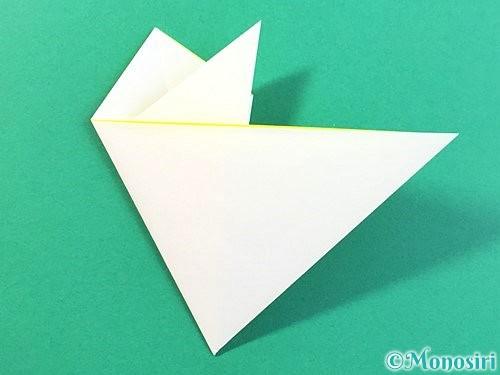 折り紙でひまわりの切り方手順14