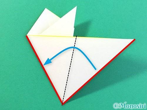 折り紙でひまわりの切り方手順15