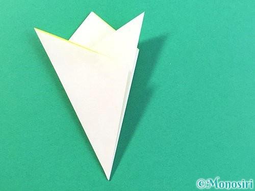 折り紙でひまわりの切り方手順16