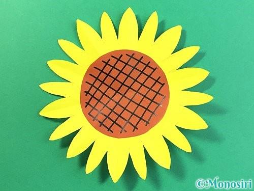 折り紙でひまわりの切り方手順20