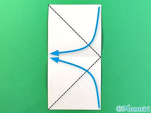 折り紙で立体的なクワガタの折り方手順44