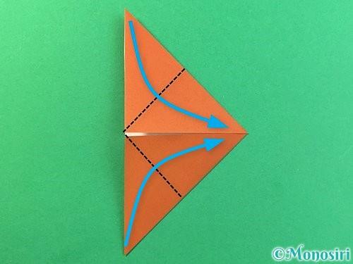 折り紙で立体的なクワガタの折り方手順46