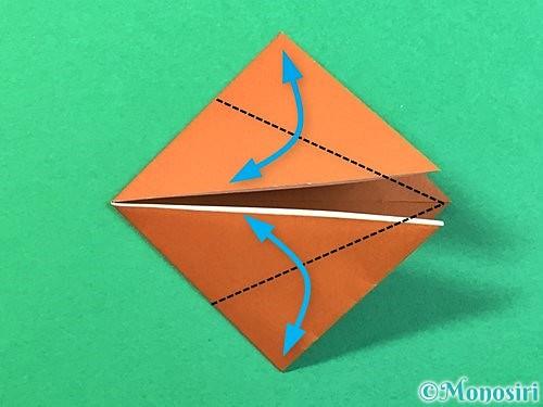 折り紙で立体的なクワガタの折り方手順48