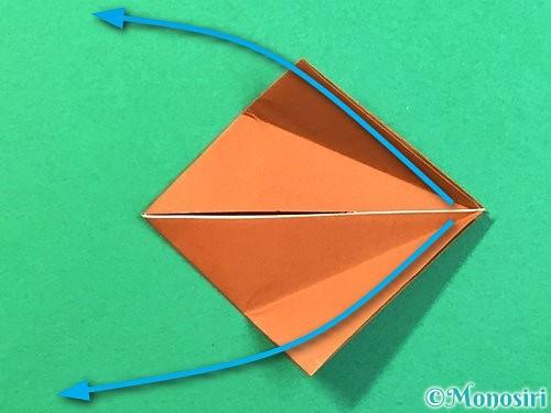 折り紙で立体的なクワガタの折り方手順50