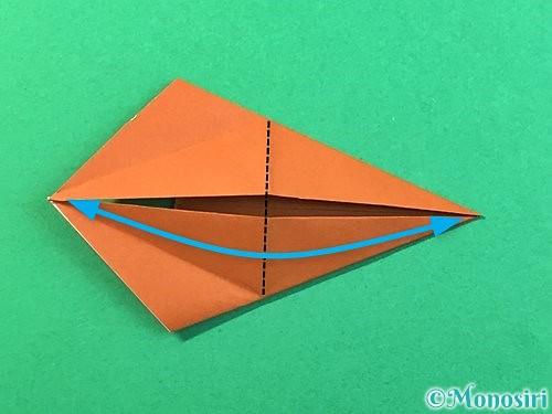 折り紙で立体的なクワガタの折り方手順54