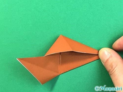 折り紙で立体的なクワガタの折り方手順58