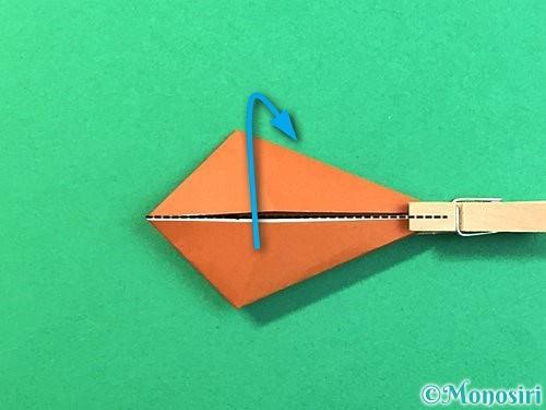 折り紙で立体的なクワガタの折り方手順61