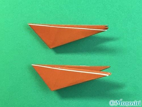 折り紙で立体的なクワガタの折り方手順63