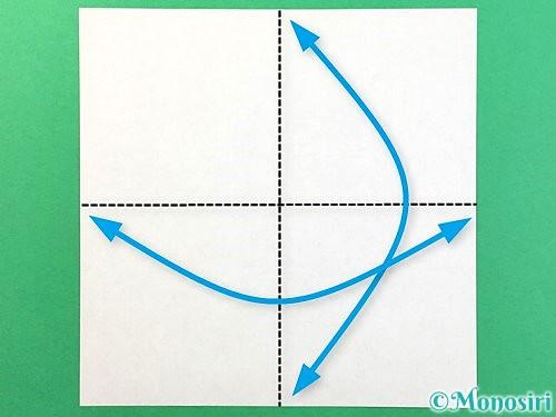 折り紙で立体的なクワガタの折り方手順1