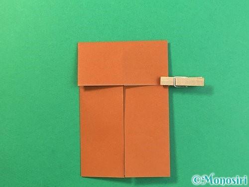 折り紙で立体的なクワガタの折り方手順6