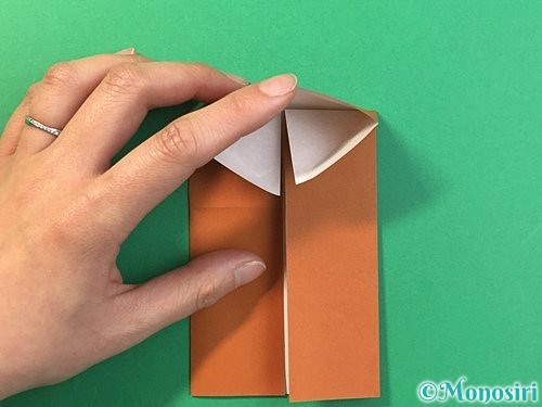 折り紙で立体的なクワガタの折り方手順10