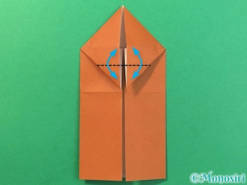 折り紙で立体的なクワガタの折り方手順13