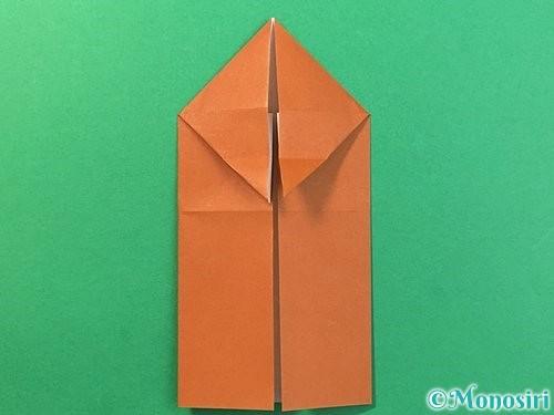 折り紙で立体的なクワガタの折り方手順14