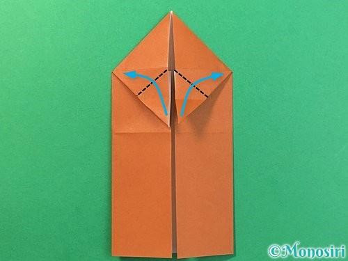 折り紙で立体的なクワガタの折り方手順15