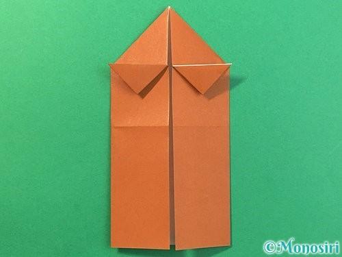 折り紙で立体的なクワガタの折り方手順16