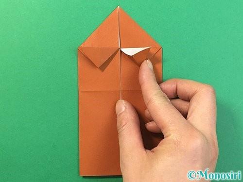 折り紙で立体的なクワガタの折り方手順17