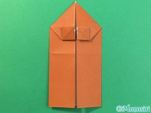 折り紙で立体的なクワガタの折り方手順20
