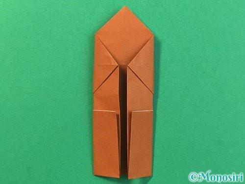 折り紙で立体的なクワガタの折り方手順25