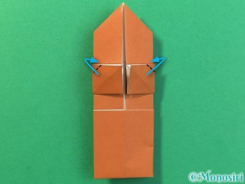 折り紙で立体的なクワガタの折り方手順27