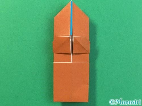 折り紙で立体的なクワガタの折り方手順29