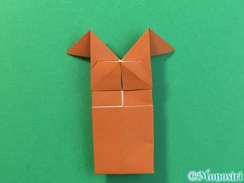 折り紙で立体的なクワガタの折り方手順32