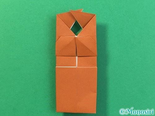 折り紙で立体的なクワガタの折り方手順34