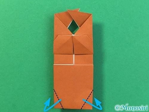 折り紙で立体的なクワガタの折り方手順35