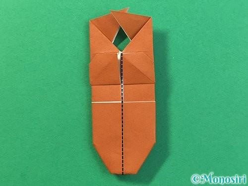 折り紙で立体的なクワガタの折り方手順37